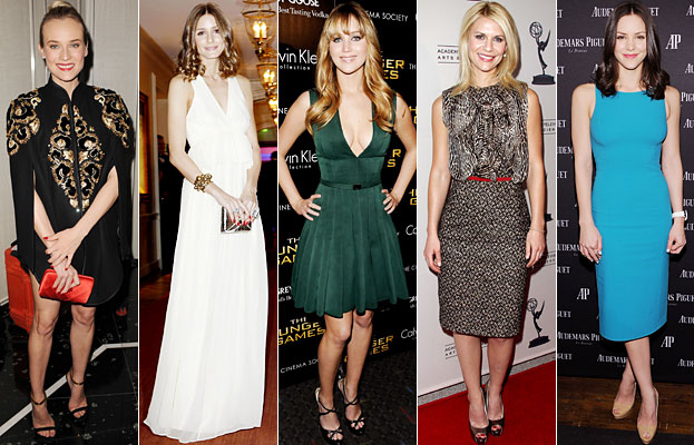 Diane Kruger, Olivia Palermo, Jennifer Lawrence, Claire Danes, Katharine McPhee