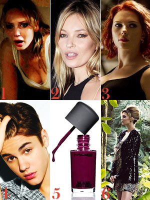 Jennifer Lawrence, Kate Moss, Scarlett Johansson