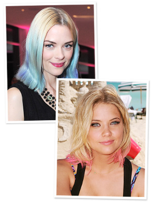 Jaime King Hair - Pastel Tips
