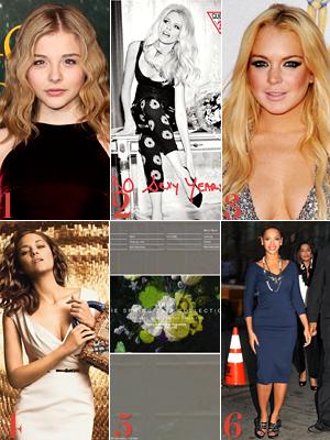 Chloe Moretz, Claudia Schiffer, Lindsay Lohan