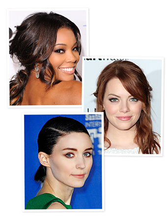 Gabrielle Union, Emma Stone, Rooney Mara