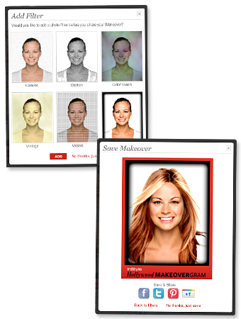 Hollywood Makeover Tool, MakeoverGram