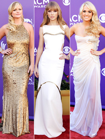2012 ACM Awards, Miranda Lambert, Taylor Swift, Carrie Underwood