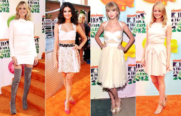 Heidi Klum, Selena Gomez, Taylor Swift, Emma Stone