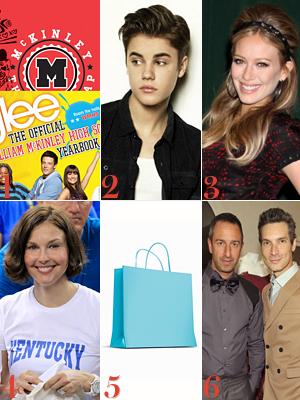 Glee, Justin Bieber, Hilary Duff