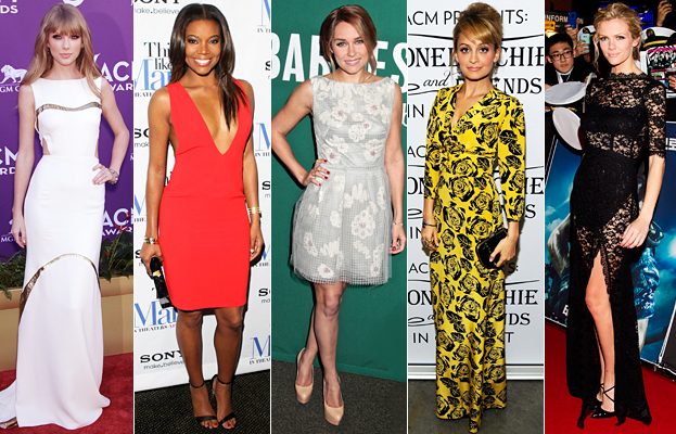 Taylor Swift, Gabrielle Union, Lauren Conrad, Nicole Richie, Brooklyn Decker