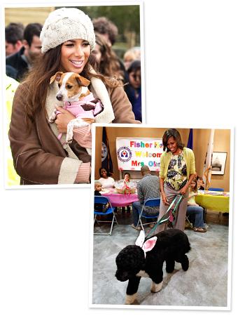 Leona Lewis, Michelle Obama, Bo Obama