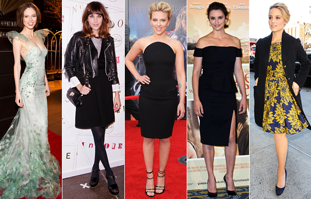 Coco Rocha, Alexa Chung, Scarlett Johansson, Penelope Cruz, Dianna Agron