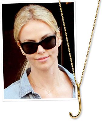 Charlize Theron, personalized jewelry