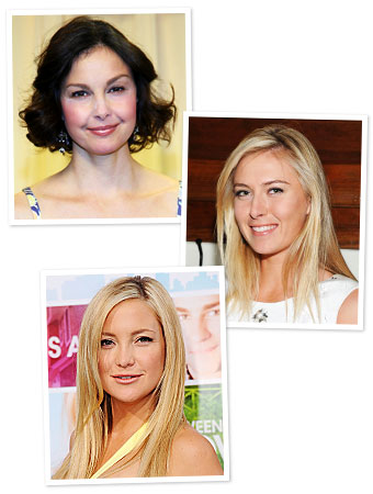 Birthdays, Ashley Judd, Maria Sharapova, Kate Hudson