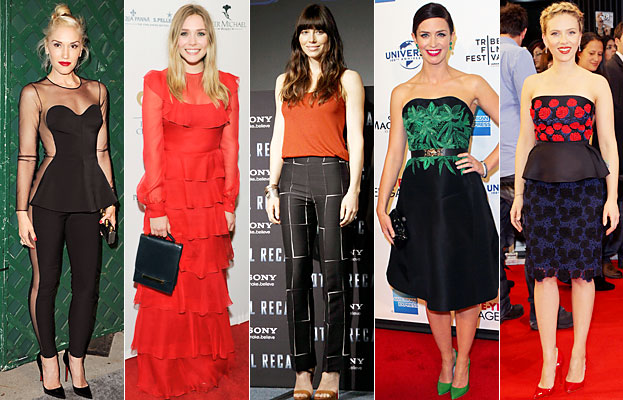 Gwen Stefani, Elizabeth Olsen, Jessica Biel, Emily Blunt, Scarlett Johansson