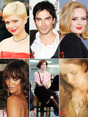 Michelle Williams, Ian Somerhalder, Adele