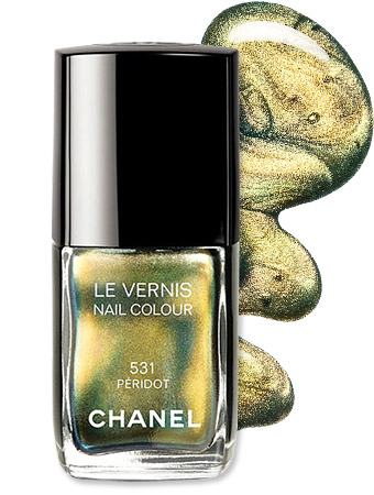 Metallic Chrome Nail Polishes - Chanel Peridot