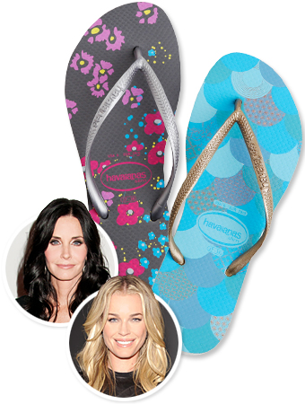 Havaianas, Baby Buggy, Courteney Cox, Rebecca Romijn