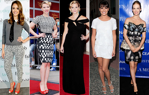 Jessica Alba, Scarlett Johansson, Reese Witherspoon, Lea Michele, January Jones