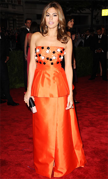 Met Gala 2012 Red Carpet, Eva Mendes