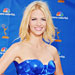 January Jones Has a Really Good Reason to Wear Blue