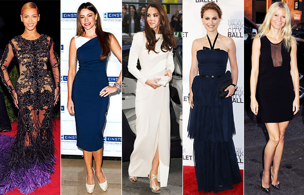 Beyonce, Sofia Vergara, Kate Middleton, Natalie Portman, Gwyneth Paltrow