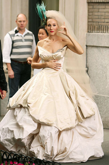 Sarah Jessica Parker, Wedding Dress, Sex and the City