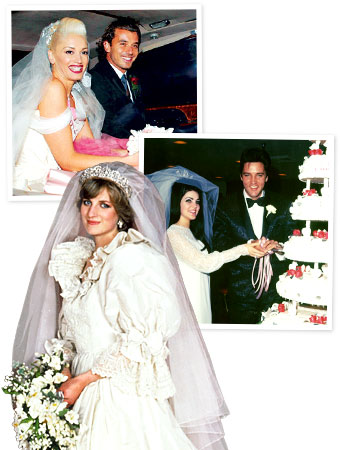 Gwen Stefani wedding, Princess Diana wedding