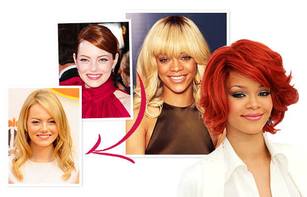 Emma Stone, Rihanna, Hair Color