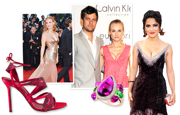Cannes Film Festival 2012, Sergio Rossi, Diane Kruger, Joshua Jackson, Jessica Chastain, Chopard, Salma Hayek