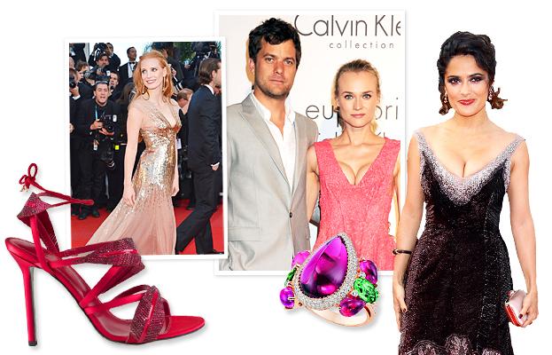Cannes Film Festival 2012, Sergio Rossi, Diane Kruger, Joshua Jackson, Jessica Chastain, Chopard, Salma Hayek