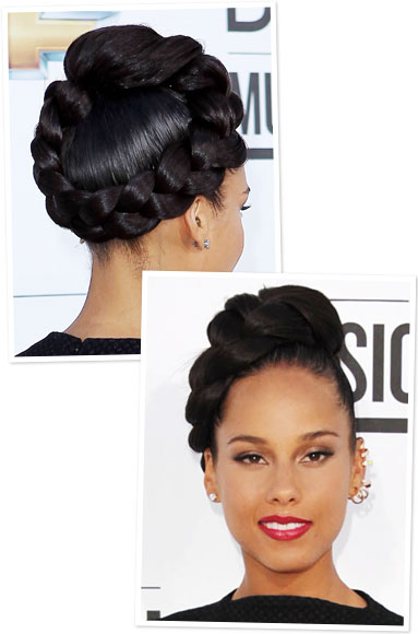 Alicia Keys Updo Hairstyles Gallery For > Alici...