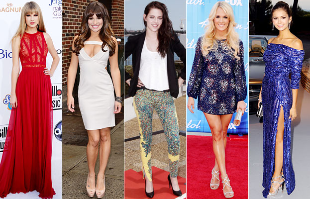 Taylor Swift, Lea Michele, Kristen Stewart, Carrie Underwood, Nina Dobrev