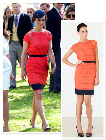 Pippa Middleton Orange Dress