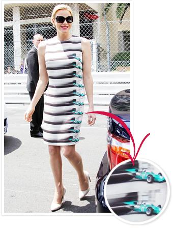 Princess Charlene Race Car Dress Designer, Akris