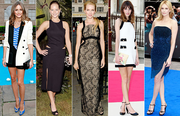 Olivia Palermo, Jennifer Lawrence, Naomi Watts, Alexa Chung, Charlize Theron