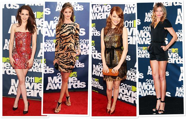 Kristen Stewart, Rosie Huntington-Whiteley, Emma Stone, Cameron Diaz