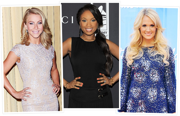 Julianne Hough, Jennifer Hudson, Carrie Underwood