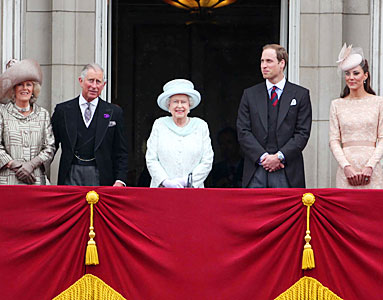 Queen Elizabeth, Prince William, Kate Middleton, Diamond Jubilee