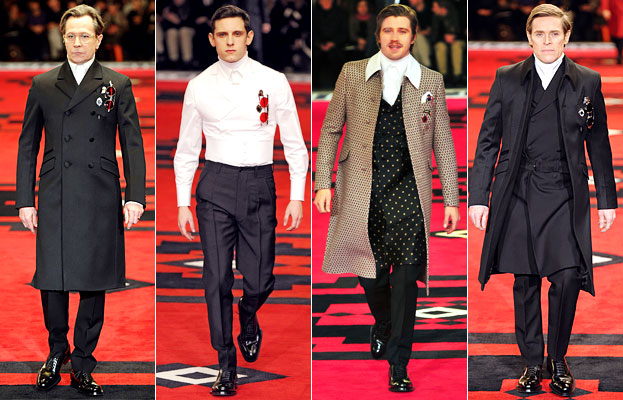 Cary Oldman, Jamie Bell, Garret Hedlund, William DefoePrada fall 2012