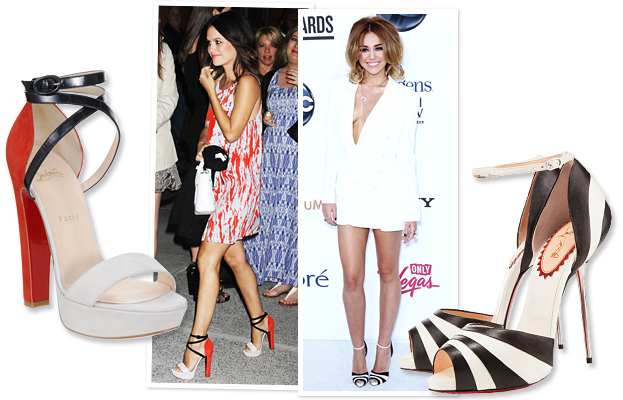 Rachel Bilson, Miley Cyrus, Christian Louboutin
