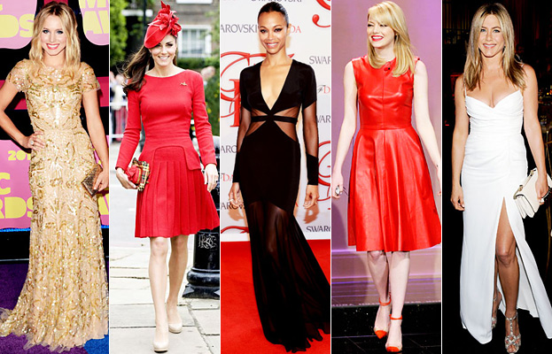 Kristen Bell, Kate Middleton, Zoe Saldana, Emma Stone, Jennifer Aniston