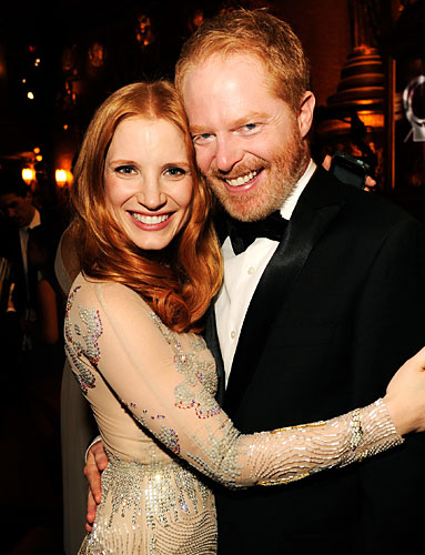 Jessica Chastain and Jesse Tyler Ferguson