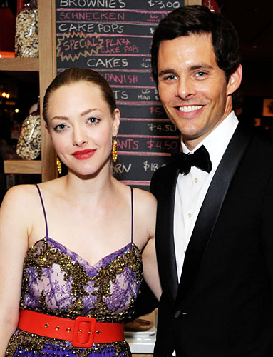 Amanda Seyfried and James Marsden