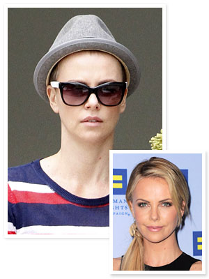 Charlize Theron Shaved Head