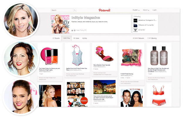 pinterest, tory burch; eva amurri martino, jessica alba