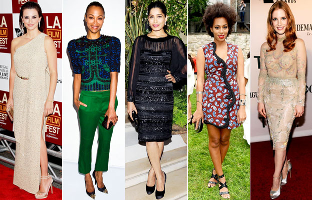 Penelope Cruz, Zoe Saldana, Freida Pinto, Solange Knowles, Jessica Chastain