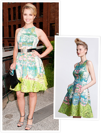 Dianna Agron, Tracy Reese, Anthropologie