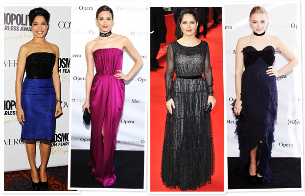 Yves Saint Laurent, YSL, Freida Pinto, Emmy Rossum, Salma Hayek, Chloe Moretz