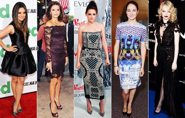 Mila Kunis, Penelope Cruz, Kristen Stewart, Shailene Woodley, Emma Stone