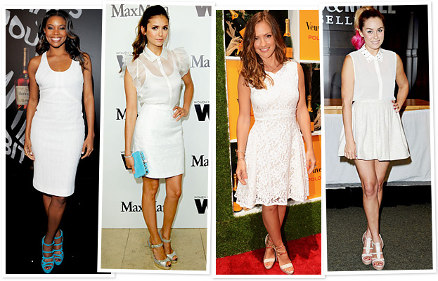 Outfit White Dress Little White Dress Celebrity
