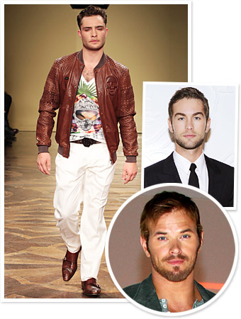 Men's Fashion Week, Ed Westwick, Chace Crawford, Kellan Lutz