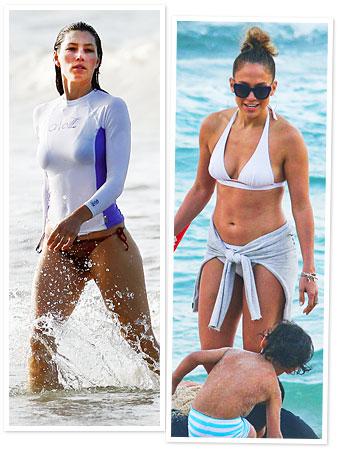 Bikini Photos, Jessica Biel, Jennifer Lopez