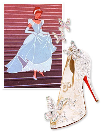 Christian Louboutin, Cinderella, Pinterest